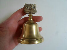 Delightful Vintage Brass Bell THE BLACKSMITHS SHOP GRETNA GREEN Desk~ Reception