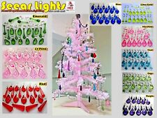 RETRO COLOUR BEADS DROPLETS GLASS PARTS CRYSTALS 20 CHRISTMAS TREE DECORATIONS