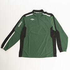 Umbro Men's 1/2 Zip Sweatshirt Green/Black/White Training Jersey Activewear