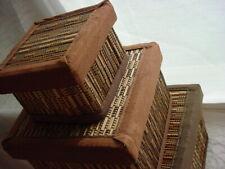 Ikea Nesting Boxes 3 Decorative Storage Natural Texture