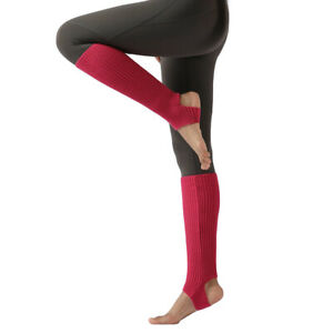 Women Ballet Yoga Stepping Foot Warm Socks Leg Knitted Sports Protective Sleeves