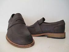 Andrew Marc Mens District Leather Slip On Loafer Dark Brown/Natural Size 8 D