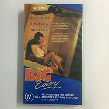 The Big Easy. Green VHS Video Tape 1986 Movie Dennis Quaid Ned Beatty Barkin
