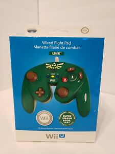 A27 Nintendo Wii & Wii U Controller Link Zelda Green Wired Fight Pad Super Smash