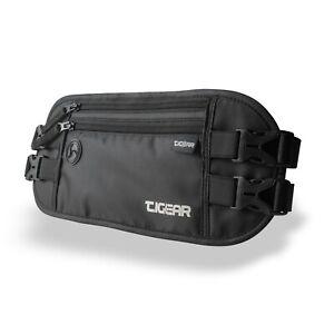 Flache Bauchtasche mit RFID Blocker Großer Laufgürtel Premium Sport-Hüfttasche