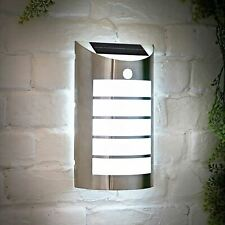 Solar Powered Outdoor Garden Night Motion Sensor Patio Shed Wall Light Lamp