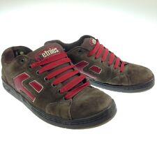 Etnies Men's Cinch SMU US 12 EU 46 Skate BMX Shoes Brown Red Suede Leather