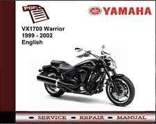 Yamaha Xv 1700 Xv1700 Guerrero 1999 - 2002 Servicio De Taller reparación Manual