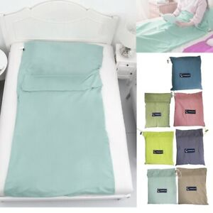 Single Liner Portable  Inner Travel Hostel Sheet Sack Camping Sleeping Bag BU