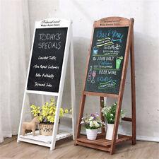 More details for wooden frame blackboard bottom flower stand chalkboard for coffee house bar sign