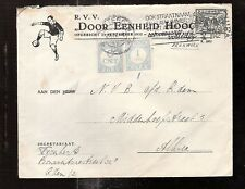 Netherlands  1941/2  ROTTERDAM FOOTBALL soccer CLUB postage due cover DEH