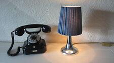 Trendige Tisch Lampe Plissee Leuchte Vintage Retro '70er Jahre Tulip verchromt