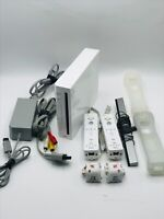 Nintendo Wii Console RVL-001 Tested - GameCube Compatible White Works Great