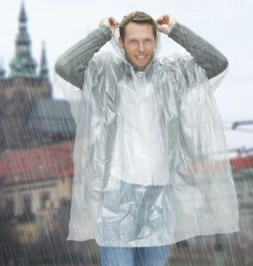 EMERGENCY WATERPROOF PONCHO RAIN CAPE IDEAL FOR FESTIVALS CAMPING OUTDOOR