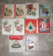 Lot Unused VTG Christmas Cards, Paramount, Fabric Inserts, Father, Grandmother