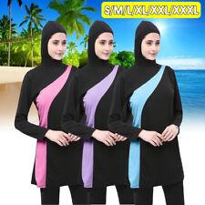 S-3XL Women's Muslim Islamic Modest Swimsuit Full Cover Islamic Beach Burkini