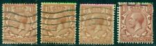 Great Britain Sg-420b, Scott # 189b, Used, Wm Sw, 4 Stamps, Read, Great Price!