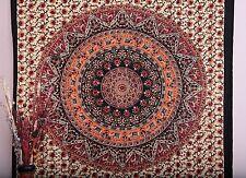 Indian Boho Round Mandala Psychedelic Wall Hanging Tapestry Throw Ethnic Decor