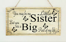 Big Sister Little Sister Friendship Sign Plaque Gift Shabby Chic Present Family