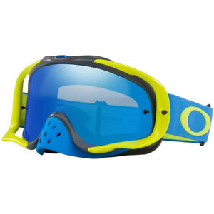 Oakley Crowbar MX Goggles Blue Green w/Black Ice & Clear Lens