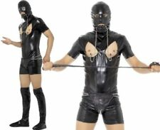 Mens Comedy Bondage Gimp Fancy Dress Costume Stag Night Suit Outfit by Smiffys L 42-44""