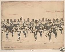 Albin Egger Lienz 1915 World War 1 Soldiers Troops 10x8 Inch Repro Print German