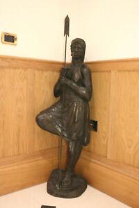 Original african statue guard 137 cms high x 40 cms w