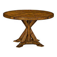 """Rustic Round Dining Table - 48"""" - Walnut"""