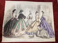 Vintage Print Advertising Godey's Fashions For November 1864 Kimmel