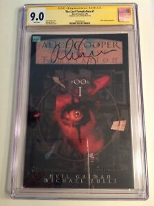 CGC 9.0 SS The Last Temptation #1 signed by rock star Alice Cooper not 9.8