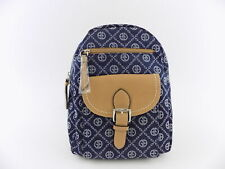 GIANI BERNINI CHAIN SIGNATURE Blue DENIM Backpack