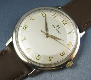Vintage Hamilton Watch Boatswain II 10k Gold RGP Hand Wind Mens  678 17J 1961