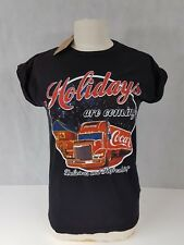 New Coca Cola Holidays Christmas Ladies T Shirt Size 8 <A3.2>