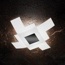 Plafoniera in vetro bianca e nera moderna a 4 luci tpl 1121/75-NE