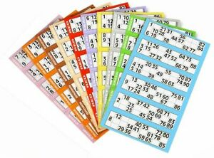 250 Bingo Flyers 6 To View Flyers Singles Quickies Jumbo Brand Various Colours