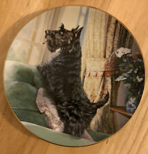 The Danbury Mint Scottish Terrier Plate Waiting for You by Mandie Haywood #A5706