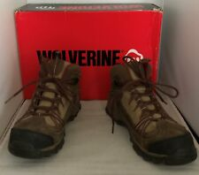 WOVERINE Maggie  Mid Steel Toe EH Work Boots - W02210 -Women's sz 8 M Brown/Red