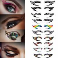 1Pairs Lace Hollow Eye Shadow Face Stick Eyeliner Stickers Tatoos Party Top