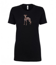 More details for whippet leopard print ladies t-shirt gift idea dog