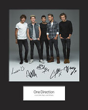 ONE DIRECTION #3 Signed Print 10x8 Mounted Photo Print - FREE DELIVERY