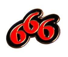 Metal Enamel Pin Badge Brooch 666 Devil 3 Sixes Evil Black and Red