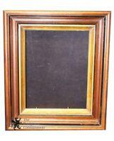 Antique Federal Deep Gilded Walnut Frame Shadow Box Biedermeier Style 1900s