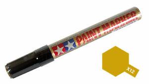 Tamiya 89012 X-12 Gloss Gold Leaf Enamel Paint Marker Plastic Model Craft Tools