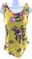 Derek Heart Maternity Tank Top Yellow Floral Sleeveless