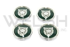 Jaguar Wheel Badge Set - Wheel Motif - 1988-2012 - Green/Silver - MNA6249AB - K
