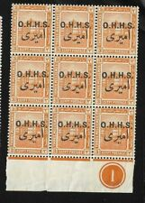 Egypt 1915 Official 3 mill. Control Block MH VF.