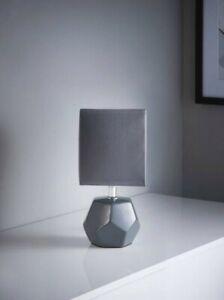 Grey Ceramic Table Lamp Small Desk Light Home Office Dinning Bed Room Kids Decor