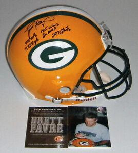 PACKERS Brett Favre signed STAT Pro Line helmet COA HOLO AUTO Autograph 1/444