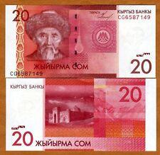 Kyrgyzstan, 20 Som, 2009, Pick 24, UNC