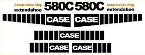 New Case 580C Loader Backhoe construction king decal sticker set decals